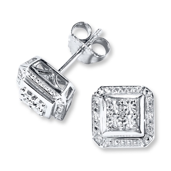 0c88fd5a4 Kay Jewelers Jewelry - Kay Jewelers Diamond Stud Earrings Sterling Silver